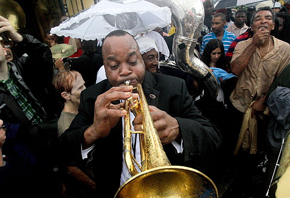 Jazz Funeral Held For Local Legend Bass Drummer Uncle Lionel Batiste