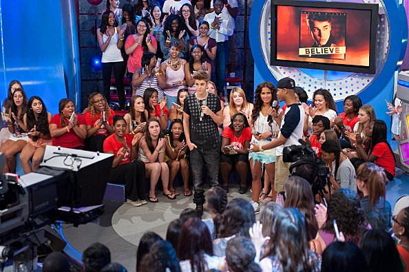 """Justin Bieber, Leah LaBelle & Lil Scrappy Visit BET's """"106 & Park"""""""