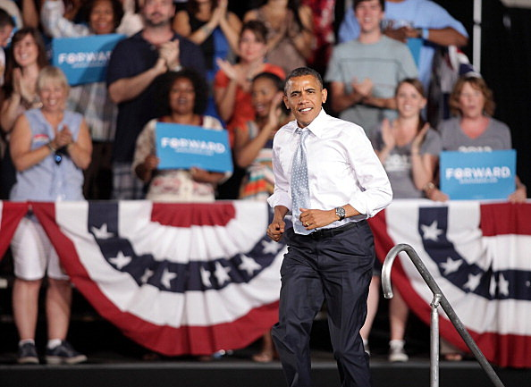 Obama Holds Campaign Event At Las Vegas High School