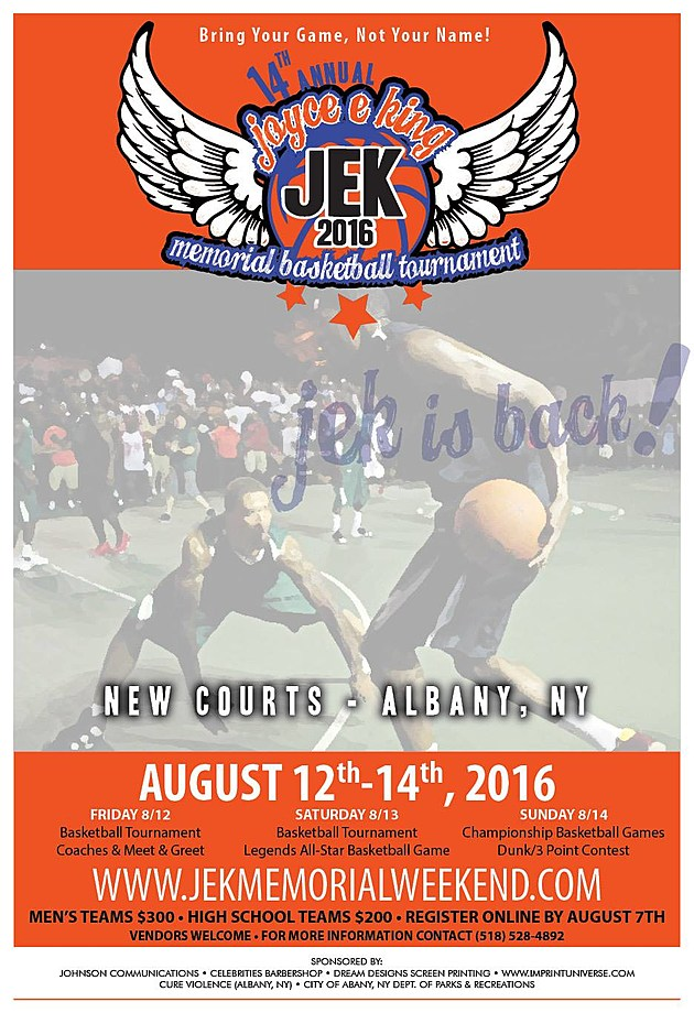 Joyce E King Memorial Basketball Tournament 2016 Flyer