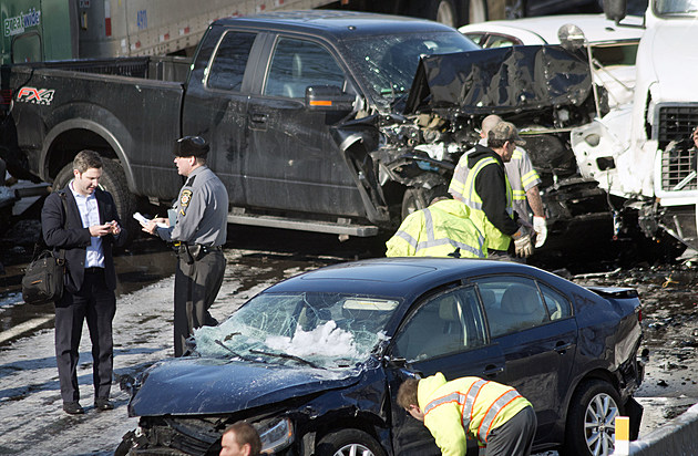 Massive Pile Up Accident On Pennsylvania Turnpike