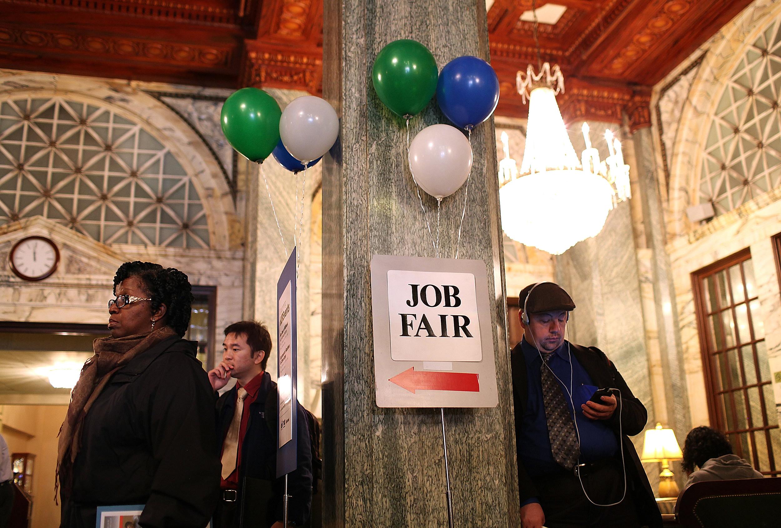 Career Fair Held For Job Seekers