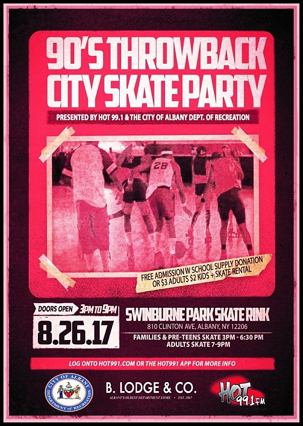 90s Throwback City Skate Party Flyer